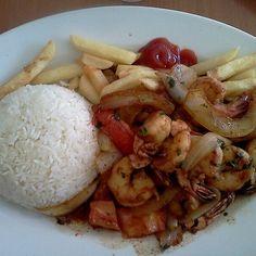 Saltado De Camarones (shrimp Sauteed With Onions and Tomatoes) @ El Patio