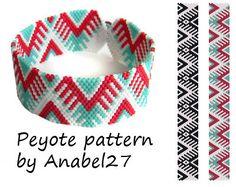 2 peyote patterns - bead patterns- peyote bracelets