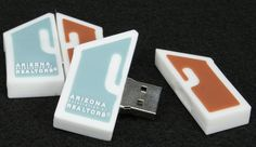 Custom USB drives designed for realty companies by PremiumUSB. #usbs #personalized
