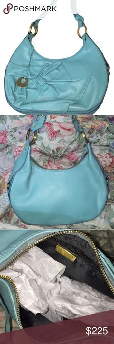 Trade! Blue Fendi Bag Brand new! Never worn. Authentic. Comes with dust bag. Fendi Bags Shoulder Bags