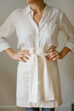 Modern Hepburn - awelltraveledwoman: updated my shop Apron Dress, Shirt Dress, Cafe Apron, A Well Traveled Woman, Art Smock, Restaurant Uniforms, Modern Hepburn, Apron Designs, Work Wear