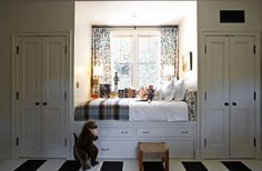Built In Bed - Design photos, ideas and inspiration. Amazing gallery of interior design and decorating ideas of Built In Bed in bedrooms, girl's rooms, boy's rooms by elite interior designers - Page 1 Bed Nook, Cozy Nook, Alcove Bed, Cozy Bed, Cosy, Cozy Corner, Closet Bedroom, Kids Bedroom, Bedroom Nook