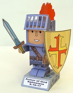 My Little House: Paper Toy: the Armor of God Object Lessons, Bible Lessons, Bible Activities, Activities For Kids, Sunday School Crafts For Kids, Children's Church Crafts, Armor Of God, Origami, Bible Crafts
