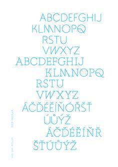 Trendy Roma font by Ondrej Kahanek, via Behance