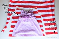 Little girl dress from old shirt - looks easy enough?
