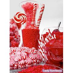 Red Candy Buffets | Photo Gallery | CandyWarehouse.com Online Candy Store