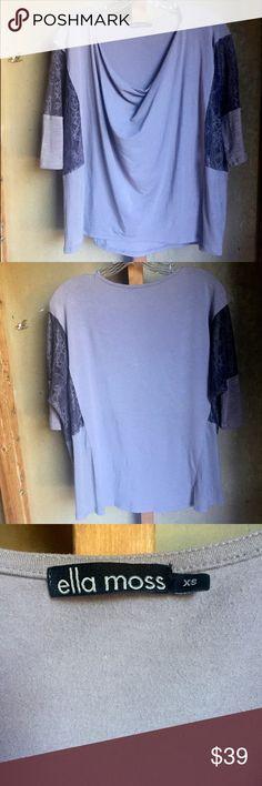 Ella Moss taupe tunic blouse w/lace sz XS pretty!! Ella Moss taupe tunic blouse w/lace sz XS pretty!! Ella Moss Tops Blouses