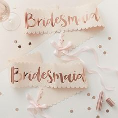 Now everyone will know who the brideslaves are! These gorgeous bridesmaid sashes match the Bride to be sash and come with 2 in a pack for €10. Available to order now to be shipped before the end of next week ����thehenplanner.com  http://gelinshop.com/ipost/1518756024588040798/?code=BUTtI7CDfpe