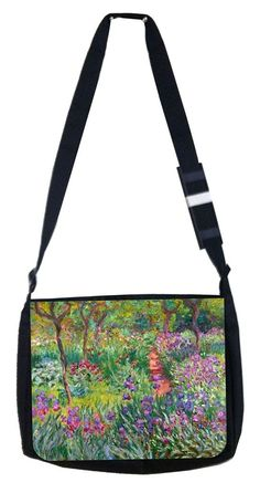 Monets garden in Giverny Rosie Parker Inc. TM Medium Sized Messenger Bag 11.75' x 15.5' and 4.5' x 8.5' Pencil Case SET ** Details can be found by clicking on the image. (This is an Amazon Affiliate link and I receive a commission for the sales)