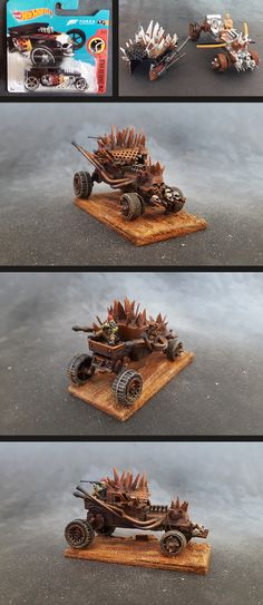 Forums › Community › The Garage › Paritazi's garage Topic: Paritazi's garage Author July 2018 at am Guillaume RollandParticipant Hello, My first cars, … Custom Hot Wheels, Hot Wheels Cars, Custom Cars, Post Apocalyptic Games, Batman Car, Mad Max Fury Road, Plastic Model Cars, Car Mods, Weird Cars