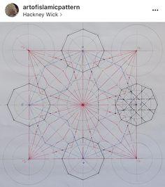 Geometric Drawing, Mandala Drawing, Geometric Designs, Islamic Designs, Geometric Patterns, Islamic Art Pattern, Pattern Art, Geometry Art, Sacred Geometry