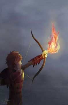 Noctus and Nörrik shoot their fire arrows towards their relative's funeral ship ~ former Chief Stoick the Vast.