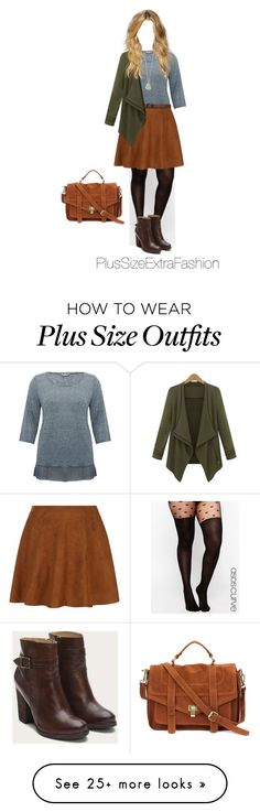 """Vintage Inspired Plus Size Outfit in Earth Tones"" by plussizeextrafashion on Polyvore featuring M&Co, ASOS Curve, Abercrombie & Fitch and vintage"