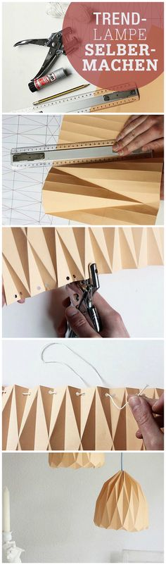 free DIY tutorial: make your own origami lamp via DaWanda.com