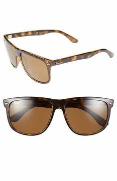 5b1e215283 Ray-Ban 'Boyfriend' 60mm Polarized Sunglasses Polarized Sunglasses, Ray Ban  Polarized,