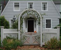 I could do similar. Gate and arbor stepped back, wings come forward.  Would help with jog in stone wall.  - Gated Entry with Arbor  Walpole Woodworkers - Pennsylvania Store   610-495-0335  200 Limerick Center Rd Limerick PA 19473