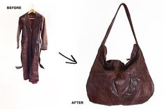reMade USA - we repurpose vintage leather jackets into new one-of-a-kind handbags Love that this company recycles leather