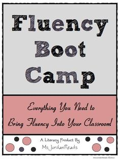 Fluency Boot Camp . . . can modify this for older students.