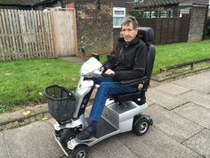 Mr Thompson chose the Vitess 2 mobility scooter find the perfect scooter for you here http://contact.quingoscooters.com/social-mobility-scooters