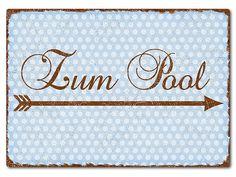 Türschild  Pünktchen mit Wunschtext A4 vintage hellblau