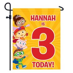 Super Why! Birthday Yard Sign from PBS Kids Shop