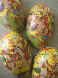 Vintage Easter Candy Containers Cardboard Eggs by BettyAndDot, $9.50