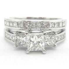 Princess Cut Three Stone Diamond Engagement Ring P6