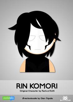 RIN KOMORI, original character by Facrul R.U.N. #VectorDoodle by Glen Tripollo