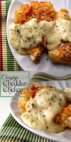 Crispy Cheddar Chicken #chickenrecipes