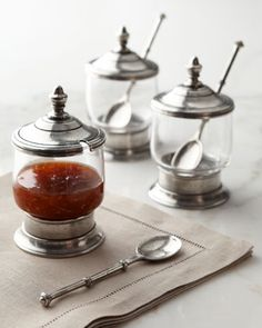 I can't stand pulling out a store-brand jar of something.  These would be wonderful to have for jelly, etc.  Condiment Jars
