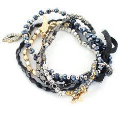 Bracelet multi rangs perles - bijoux - coachella