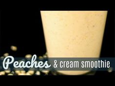 This Peaches and Cream Oatmeal Smoothie will give you the energy to start the day. Also a great recovery drink after a work out! Oatmeal Smoothies, Vegan Smoothies, Green Smoothie Recipes, Breakfast Smoothies, Smoothie Drinks, Healthy Blender Recipes, Nutribullet Recipes, Healthy Drinks, Vegetarian Recipes