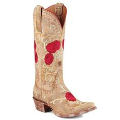 """13"""" Ariat Corazon Embroidered Rose Cowboy Boots - you'll be turnin' heads everywhere!"""