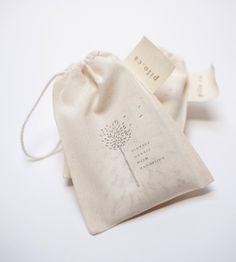 printed vintage linen / cotton hankies + printed cotton bag