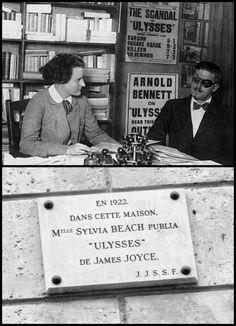 Sylvia Beach y James Joyce