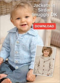 Knitting Patterns Boy Free Baby Jacket Pattern A snuggly and versatile pattern, this easy to knit jacket is suitable for b… Baby Boy Knitting Patterns Free, Love Knitting, Baby Cardigan Knitting Pattern, Knitting For Kids, Baby Kostüm, Knit Baby Sweaters, Knitted Baby, Jacket Pattern, Free Baby Stuff