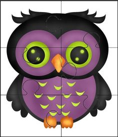 Puzzles para niños: ¡qué bonito búho! :) Diy And Crafts, Arts And Crafts, Forest Theme, Cute Owl, Preschool Crafts, Card Games, Minions, Hobbit, Halloween
