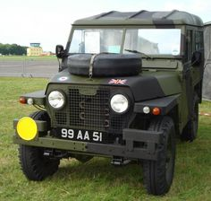 The Landy sporting a new coat of paint at the MVT's 40th Anniversary Show at Kemble Airfield near Cirencester, June 2008.