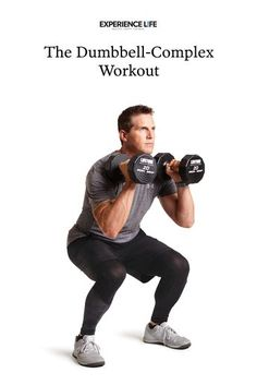 The Dumbbell-Complex Workout This circuit of back-to-back dumbbell exercises builds full-body strength, amps up endurance, and burns fat. Dumbell Full Body Workout, Best Dumbbell Exercises, Full Body Dumbbell Workout, Full Body Workout Routine, Full Body Workout At Home, Home Workout Men, Gym Workout Tips, Workout Fitness, Back Workout Men