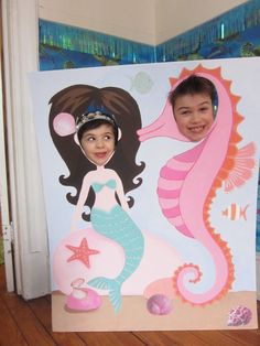 Paper Pipe Cleaners and Paint: Under The Sea Party- photo op