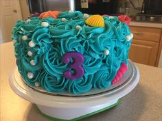Rosette ocean theme birthday cake (Made by Melia Healy)