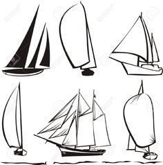 sailboat line drawing - Google Search