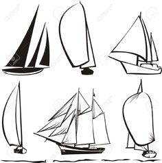 Risultati immagini per sailboat line drawing Ship Drawing, Line Drawing, Drawing Sketches, Pencil Drawings, Painting & Drawing, Art Drawings, Drawing Simple, Diy Tattoo, Drawing Lessons