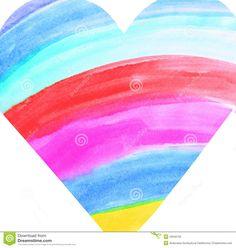 heart rainbow picture   Rainbow heart