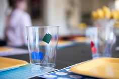 DIY Lego cups and Placemats  Lego party ideas