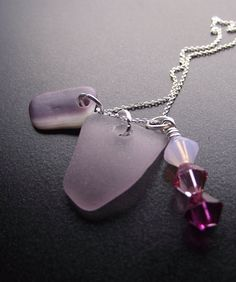 Lavender sea glass cluster - Absolutely Beautiful!!!