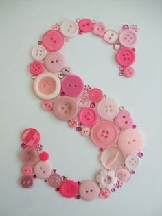 Button letter Art - small