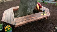 Matt shows how to add extra seating around a backyard tree using redwood. From the experts at DIYNetwork.com.