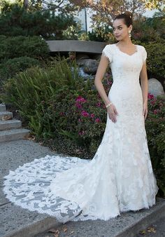 Hey! I found this wedding dress on The Knot! What do you think? Wedding Dresses Lds, Wedding Gowns With Sleeves, Wedding Dress Styles, Bridal Dresses, Bridesmaid Dresses, Prom Dresses, Bridesmaids, Bridal Gallery, Modest Dresses