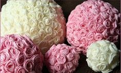 What better way to compose a centerpiece than out of crepe paper roses? This classic idea makes for one of the most fun and cheerful Christmas crafts that we have seen. Make your own Handmade Crepe Paper Rose Centerpieces today! Flower Crafts, Diy Flowers, Paper Flowers, Handmade Flowers, Fabric Flowers, Rose Centerpieces, Christmas Centerpieces, Spring Decorations, Inexpensive Centerpieces